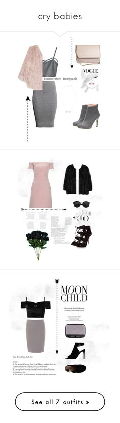 """""""cry babies"""" by avgel ❤ liked on Polyvore featuring WithChic, H&M, Pam & Gela, Givenchy, Raey, MANGO, Topshop, Peserico, Tory Burch and Michael Kors"""