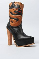 Jeffrey Campbell The Serpent Boot in Black and Tan