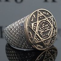 Details about AAA Quality 925 Sterling Silver Mens Jewelry Seal of Solomon Mens Ring Solomon Ring 925 Sterling Silver Ring Seal of Solomon Unique Mens Jewelry - My Accessories World Fashion Bracelets, Fashion Jewelry, Men's Jewelry, Jewelry Watches, Male Jewelry, Jewellery Box, Jewellery Shops, Yoga Jewelry, Indian Jewelry