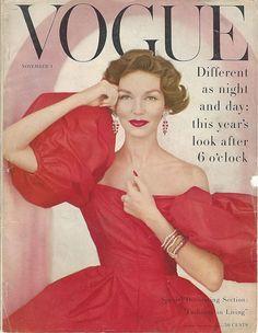1956 CARTIER Diamond Ruby Bracelets Vintage Jewelry PHOTO PRINT Vogue Cover ONLY