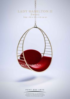 Monzer Hammoud Design -Pont des Arts Studio Paris- To be able to have a great Modern Garden Decoration, it's useful … Hanging Furniture, Art Furniture, Plywood Furniture, Unique Furniture, Contemporary Furniture, Furniture Design, Hanging Swing Chair, Swinging Chair, Hanging Chairs