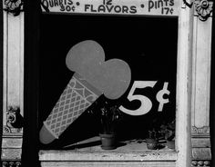 Ice Cream Sign, 1939   by Peter Sekaer  ( ~have mercy! )