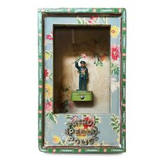 """""""Floral Enforcement"""" assemblage art box. This one kinda makes me giggle…"""