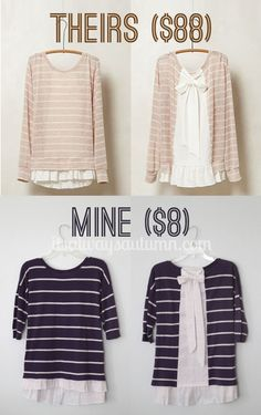 Trendy diy clothes upcycle shirt makeover sweater refashion Ideas Trendy diy clothes upcycle s Sewing Hacks, Sewing Tutorials, Sewing Patterns, Sewing Tips, Diy Clothing, Sewing Clothes, Shirt Makeover, Diy Clothes Makeover, Diy Kleidung