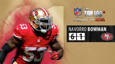 #61: NaVorro Bowman (LB, 49ers) | Top 100 NFL Players of 2016
