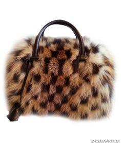 Rare Louis Vuitton Limited Edition Fox Fur Speedy