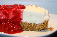 Citroncheesecake med hallonsås | Jennys Matblogg