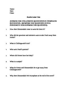 What is a good scarlet letter argument essay topic?