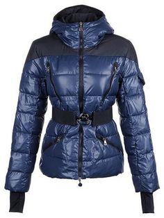 Cheap Moncler Womens Ski Down Jackets Deep Blue [2899933] - £164.09 :