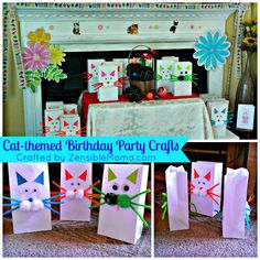 #Cat-Themed #Birthday Party #Crafts { With Tutorial }