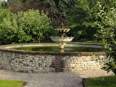 Chauffeurs Cottage guests have access to a secluded garden with fountain Self Catering Cottages, Chichester, Weekend Breaks, Fountain, National Parks, Sidewalk, Luxury, City, Outdoor Decor