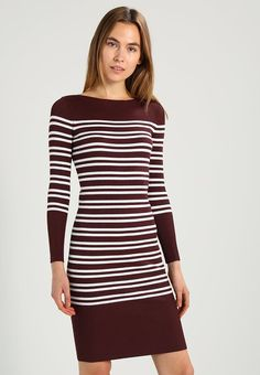 Selected Femme SFHARPER DRESS - strikket kjole fra zalando.no i brun, str 38/M, kr 599,-