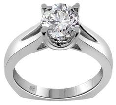 1.01 Carat Cassie Diamond 14Kt White Gold Engagement Ring