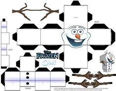 Educação na Informática: Personagens Frozen para montar