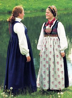 FolkCostume&Embroidery: Overview of Norwegian Costumes, part The eastern heartland. upper Valdres, Slidre or Vang Folk Costume, Costumes, Heartland, Norway, Two By Two, Culture, Embroidery, Folklore, Inspiration