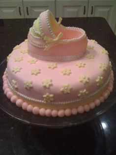Cake  for a baby girl shower