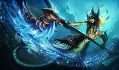 Nami   League of Legends Nami channels the primal energies of the ocean, harnessing its mystical restorative properties and commanding the raw power of the tides themselves. Though many doubted her, Nami had the bravery and determination to take on a dangerous quest when no one else would. Now her people believe she is the Tidecaller, a chosen one destined to complete a quest essential to the survival of her entire race.