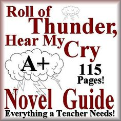 115 page Common-Core aligned Complete Literature Guide for the novel, Roll of Thunder, Hear My Cry by Mildred D. Taylor. This novel study teaching unit has everything that you will need to teach and assess the novel. The Calendar explains the skills and activities for the day, and the weekly assessments are Common Core aligned and include all answer keys.