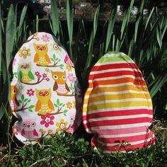 Egg Bean Bags - Easter Basket / Spring Gift - Owls & Stripes