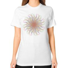 Colorful abstract yoga mandala Unisex T-Shirt (on woman)