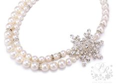Wedding Necklace Double strands Swarovski Pearl by PureRainDesigns, $50.00