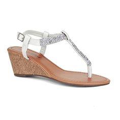 Twisted Women's RILEY Wedged Glitter Strap Sandal - WHITE... https://smile.amazon.com/dp/B00V5BLH4Q/ref=cm_sw_r_pi_dp_ktXCxb8P64T1J