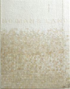 'No Mans Land', (detail)  Sue Lawty  2004  Linen,raphia, hemp, cotton  Width 37 cm x height 136 cm