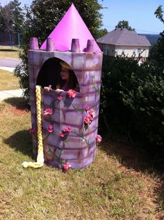 """How to make a Rapunzel tower - there would be some VERY excited little people at school, if we did this! ("""",)"""