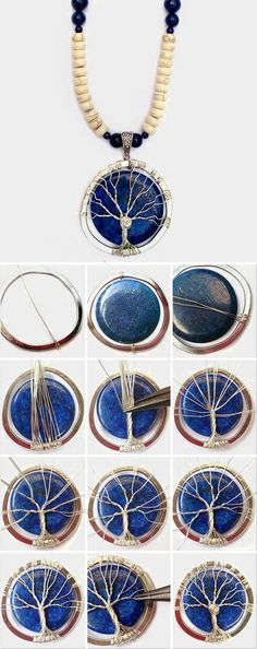 Easy way to make wire wrap tree of life tutorial