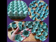 Diy Discover Coisas que Gosto: DIY::Flores com Pente de Ovo! Paper Flowers Diy Flower Crafts Diy Paper Paper Crafts Kids Crafts Diy Arts And Crafts Craft Projects Egg Carton Art Egg Carton Crafts