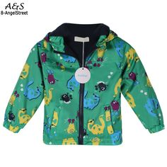 New Fashion 2016 Spring Autumn Children Long Sleeve Waterproof Jacket Baby Boys Girls Rainproof Hooded Coat Casual Kids Clothing #Affiliate