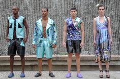 """Estilista: Estevão Goes - Tema Coleção: """"Secret Garden"""" - Fashion Mob 2012 - Modelos:Elian Gallardo - makhair: Tati - foto: do Blog Agencia Click News"""