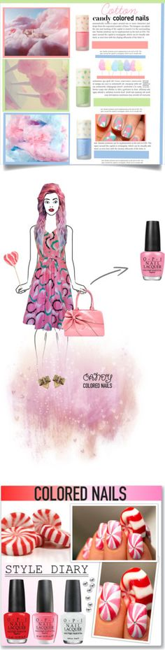 """Winners for Cute Candy-Colored Nails"" by polyvore ❤ liked on Polyvore"