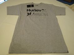Hurley M Classic fit T shirt Dissector MTSSDISM HTG grey logo Surf skate Men's #Hurley #Tshirt