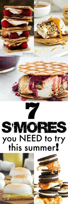 NEED to try these S'mores Recipes!!!