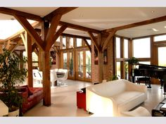 Oakwrights contemporary homes gallery Home Interior Design, Interior Decorating, Oak Frame House, Self Build Houses, Timber Buildings, Modern Architecture, New Homes, House Sitting, Contemporary Homes