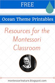 Montessori Nature: Free Ocean Theme Printables - Resources for the Montessori Classroom. KLP Linky Party