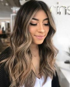 15 Best Ash Blonde Hair Colors of 2019 - Ombre, Highlights & Balayage - Style My Hairs Highlights For Dark Brown Hair, Brown Hair Balayage, Brown Blonde Hair, Balayage Brunette, Hair Color Balayage, Brunette With Highlights, Brown Hair Pics, Dark Brown With Ombre, Dark Highlighted Hair