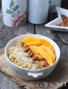 Zostałam MAMĄ! :) /Kokosowa komosanka z mango | Zdrowe Przepisy Pauliny Styś Mango, Healthy Snacks, Food And Drink, Breakfast Ideas, Smoothie, Foods, Diet, Manga, Health Snacks