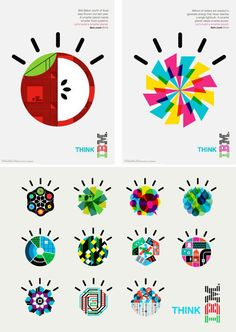 Interesting IBM Smarter Planet logos. Love the bright colors.