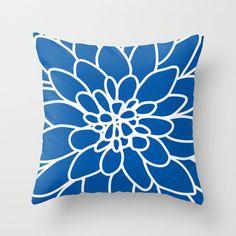 Dahlia Flower Pillow Cover Modern Home Decor By by AldariHome
