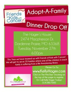 Adopt-a-Family 2012 is here!! Click on the pic to help! We have teamed up with Friends of Kids With Cancer to provide an unforgettable Christmas for 20 families!