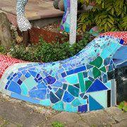 Beton und Mosaik - nettis-art, abstrakte Wandbilder, Collagen, Malkurse