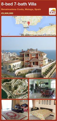 8-bed 7-bath Villa in Benalmadena Costa, Malaga, Spain ►€5,500,000 #PropertyForSaleInSpain