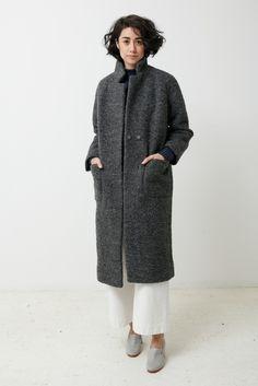 Image of Ganni Fenn Coat - pearl grey