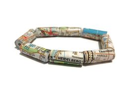 Melbourne Street Map Bracelet  by PurpleSmoothie on Etsy, $6.50  #Melbourne #Thornbury #Heidelberg #StreetMap #StreetArt #Maps #Melways