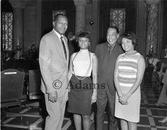 Tom Bradley, Duke Ellington and two women in City Hall. Photo by Harry Adams.
