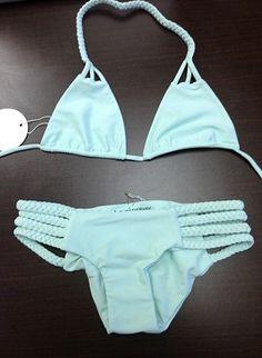 "Tori Praver Swimwear Shyla top & braided bottom in ""sea glass."""