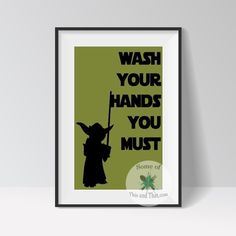 Bring a touch of the force into your bathroom with these modern and classic free Star Wars bathroom Printables!