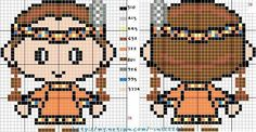 Cross Stitch Pattern for Keychains (Page Tiny Cross Stitch, Counted Cross Stitch Patterns, Beaded Animals, Le Far West, Christmas Cross, Colorful Pictures, Crafts To Do, Baby Patterns, Hama Beads